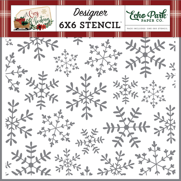 ACC189037 Cheerful Snowflake Stencil