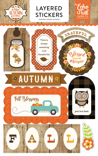 APA132025 Perfect Autumn Layered Stickers F