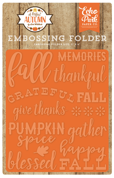 APA132031 Embossing Folder - Happy Fall