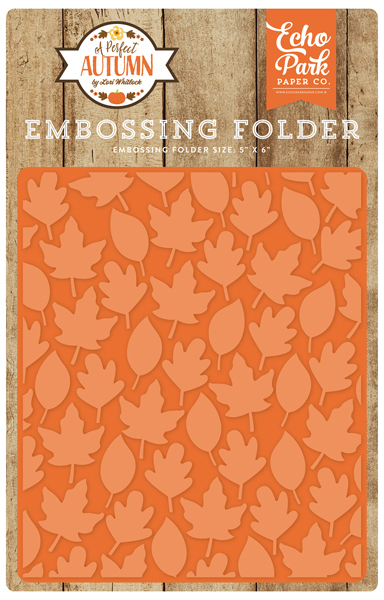 APA132032 Embossing Folder - Autumn Leaves