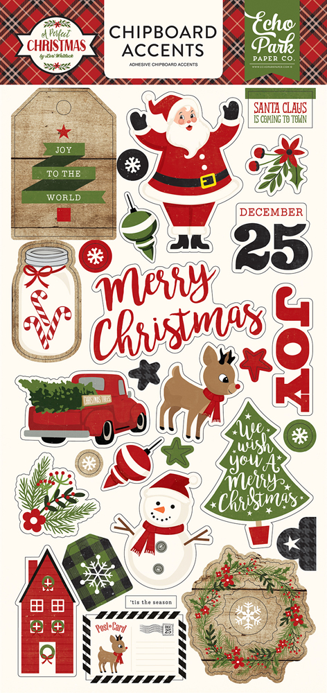 APC135022 A Perfect Christmas 6x13 Chipboard