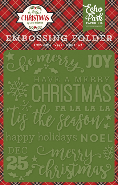 APC135031 Embossing Folder - Be Merry