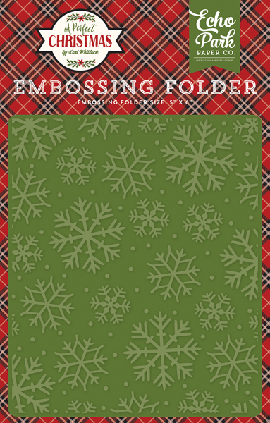 APC135032 Embossing Folder - Christmas Snowflakes
