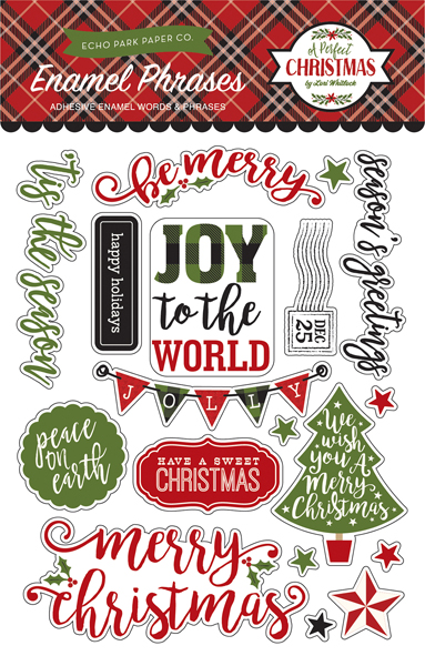 APC135062 A Perfect Christmas Enamel Words & Phrases