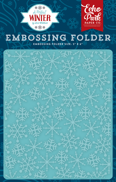 APW136032 Embossing Folder - Frosty Snowflakes
