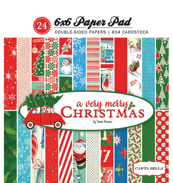 CBVMC72015 A Very Merry Christmas 6x6 Paper Pad