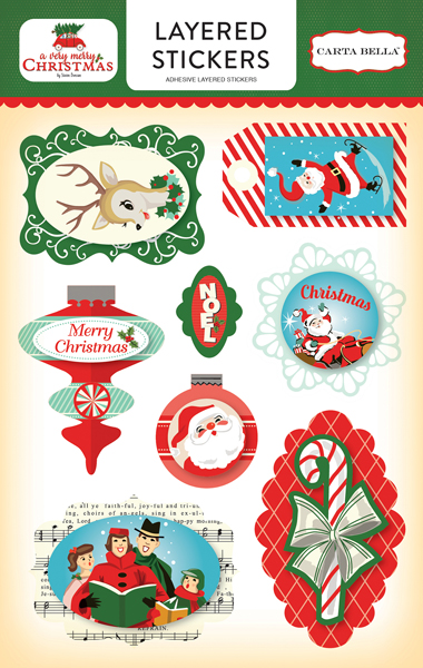 CBVMC72025 A Very Merry Christmas Layered Stickers