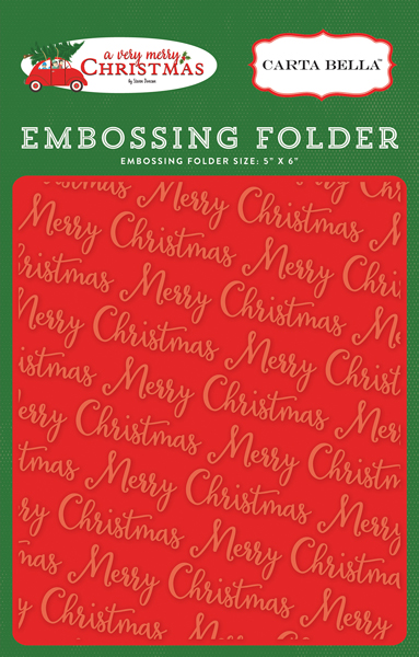 CBVMC72032 Embossing Folder - Merry Christmas