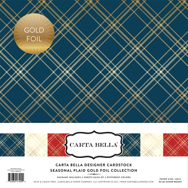 CBFSP004 Seasonal Plaid Gold Foil Collection Kit