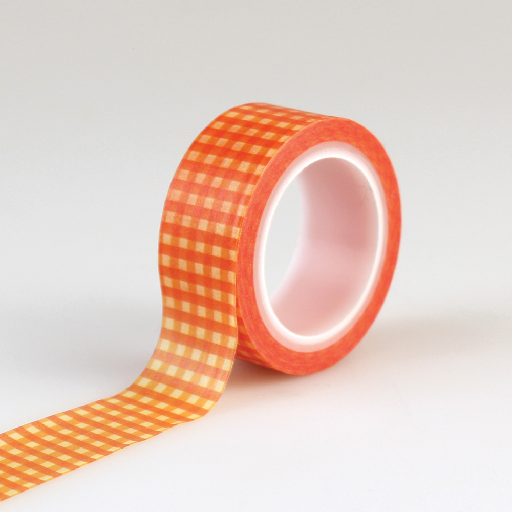 CBATM57027 Decorative Tape - Orange Gingham