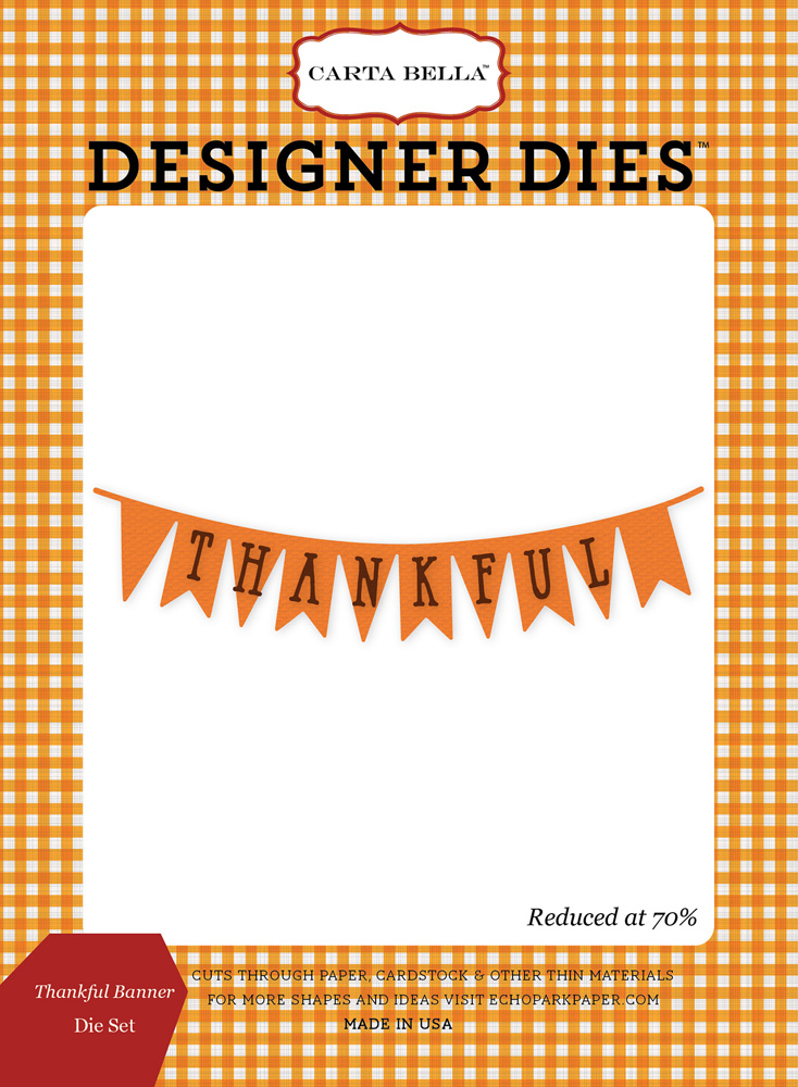 CBATM57040 Thankful Banner <br>Die Set