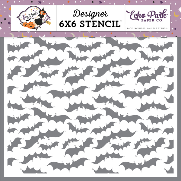 BE166034 Creepy Bats Stencil