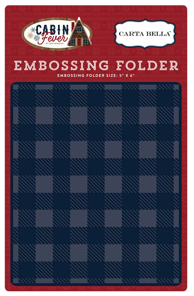 CBCF73031 Embossing Folder - Small Buffalo Plaid