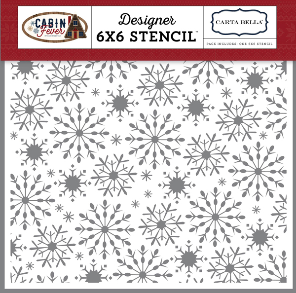CBCF73033 Frosted Snowflakes Stencil