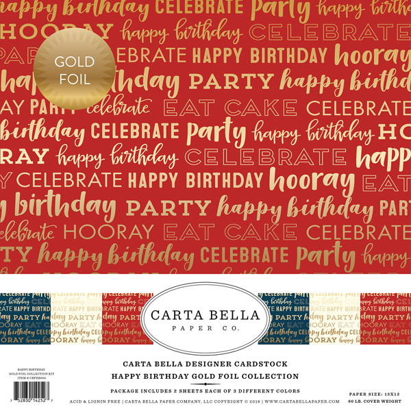 Carta Bella Foil Happy Birthday