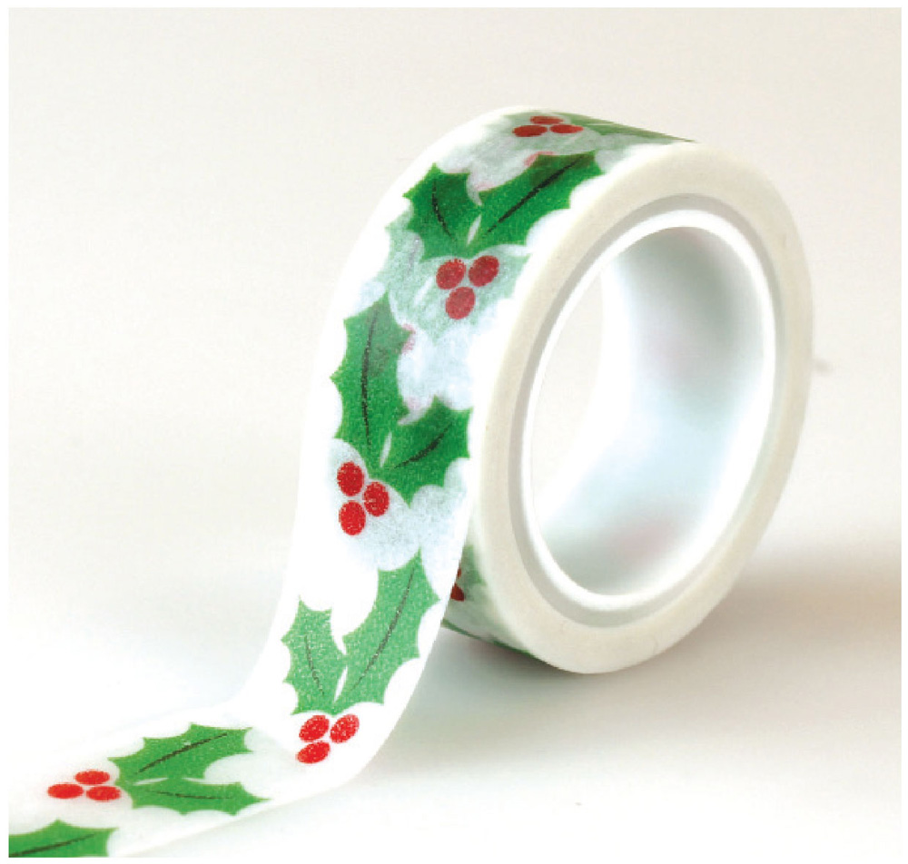 CC72029 Holly Berries Decorative Tape