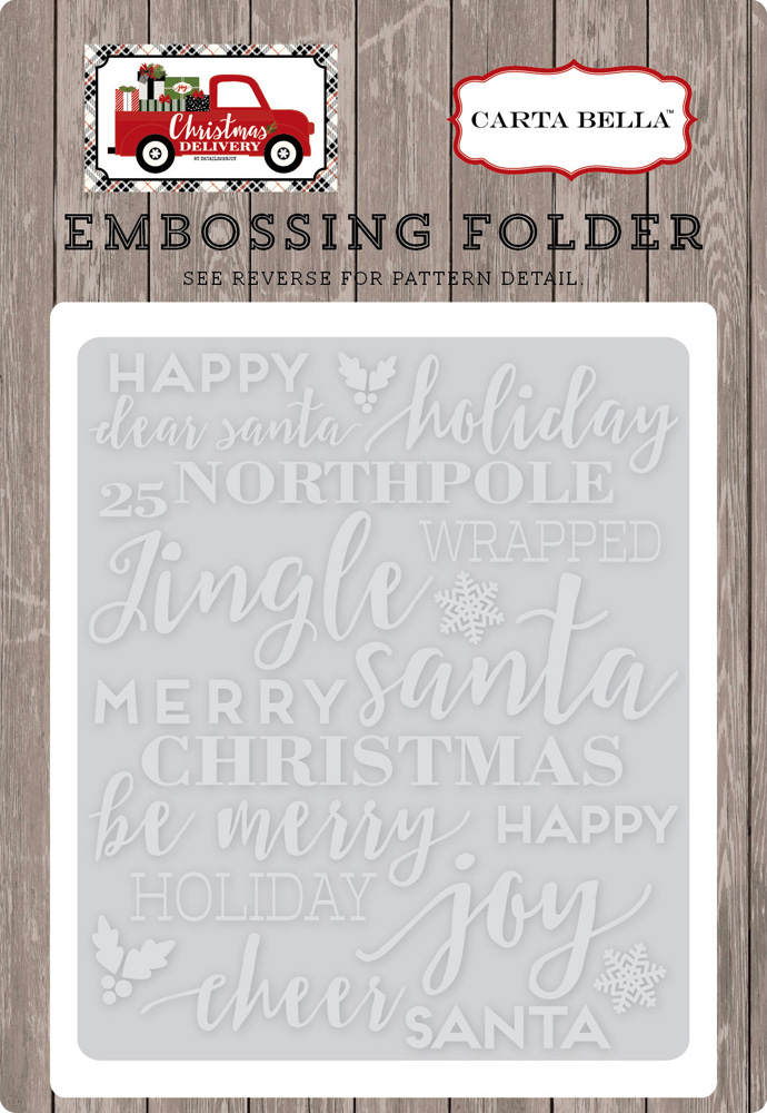 CBCD58031 Embossing Folder - Holiday Phrases