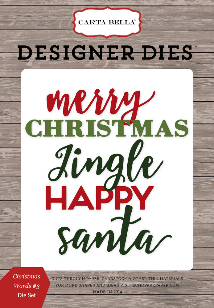 CBCD58043 Christmas Word #3 <br>Die Set