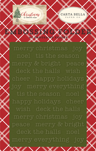 CBCH89032 Merry Christmas Embossing Folder