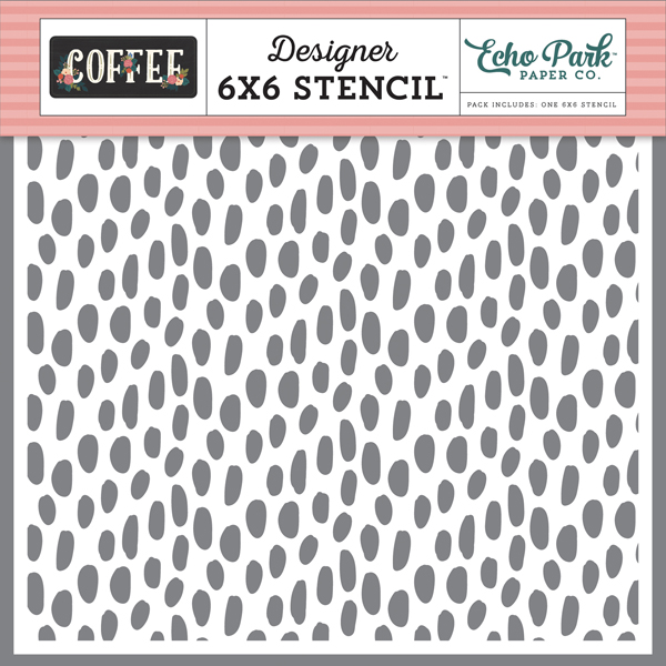 CO164033 Coffee Dot Stencil