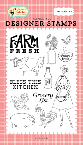 CBCK76041 Farm Fresh <br>4X6 Stamp