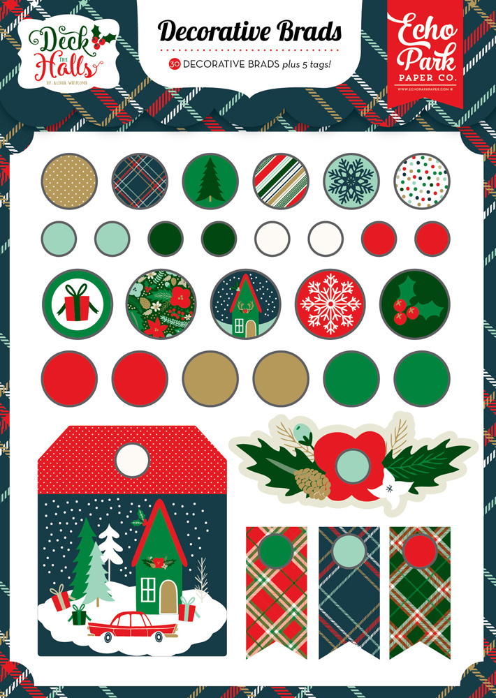DH116020 Deck the Halls Decorative Brads