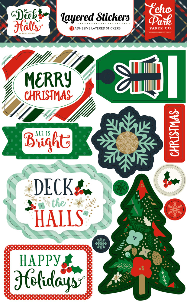DH116025 Deck Halls Layered Stickers