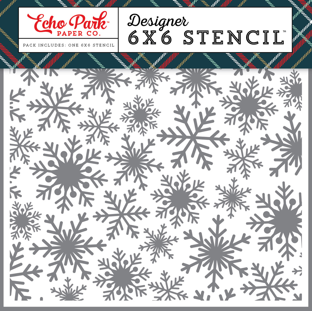 DH116036 Frosted Snowflake Stencil