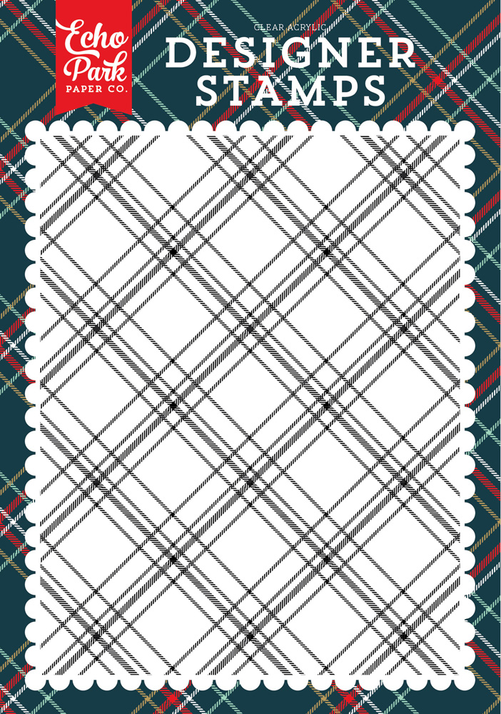 DH116047 Christmas Plaid A2 Background Stamp