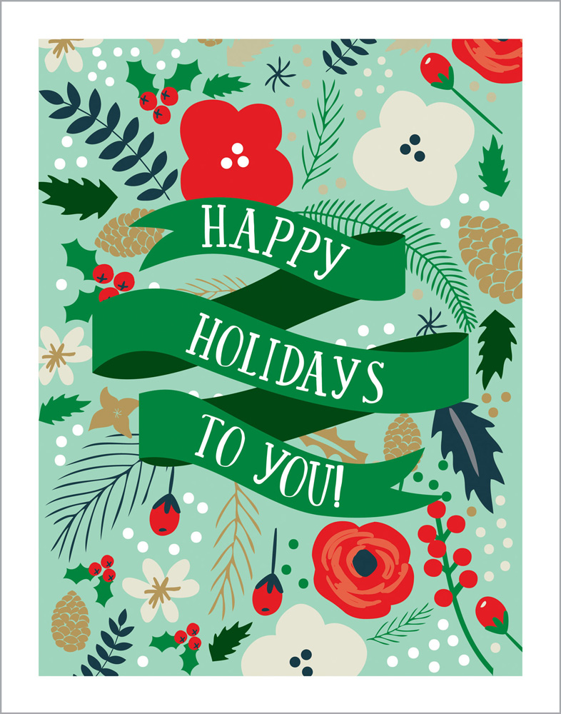 DH116070 Happy Holidays 11X14 art print