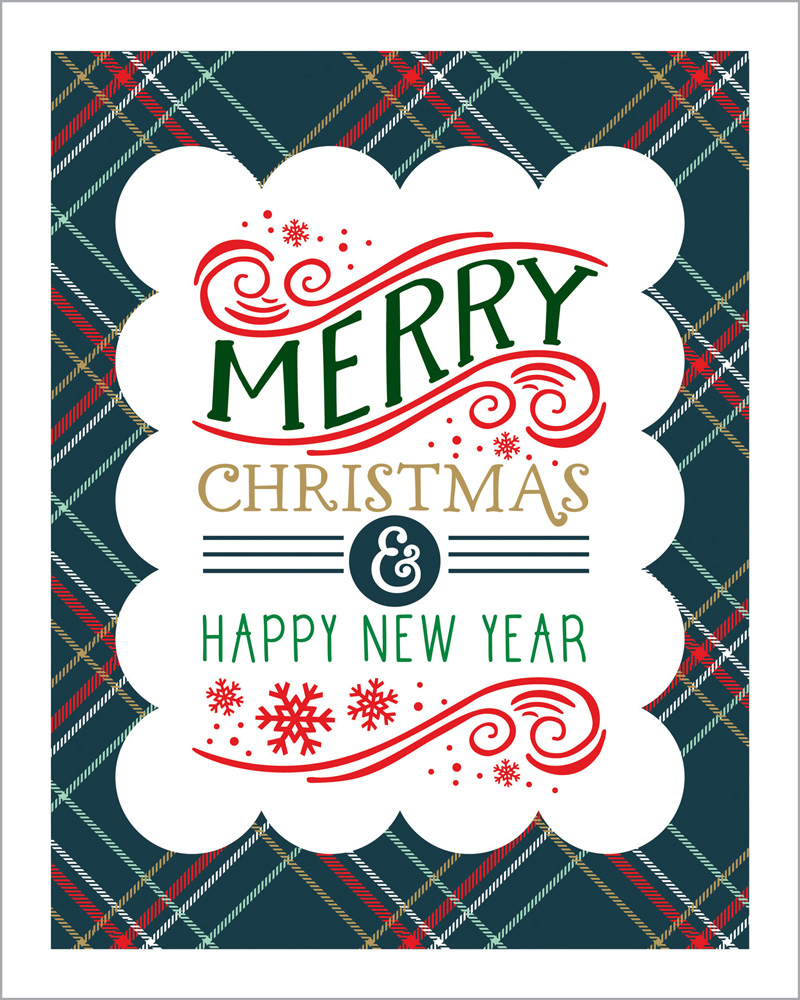 DH116071 Plaid Merry Christmas 8X10 art print