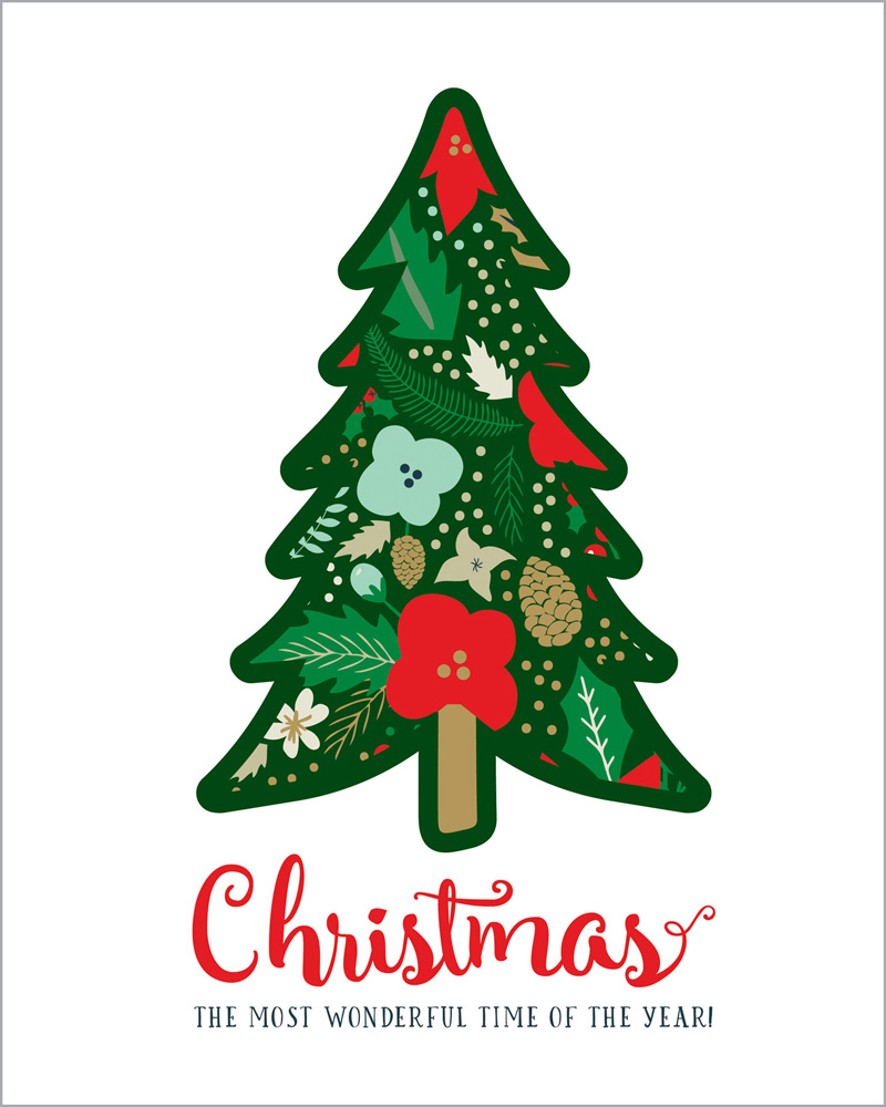 DH116072 Christmas Tree 8X10 art print