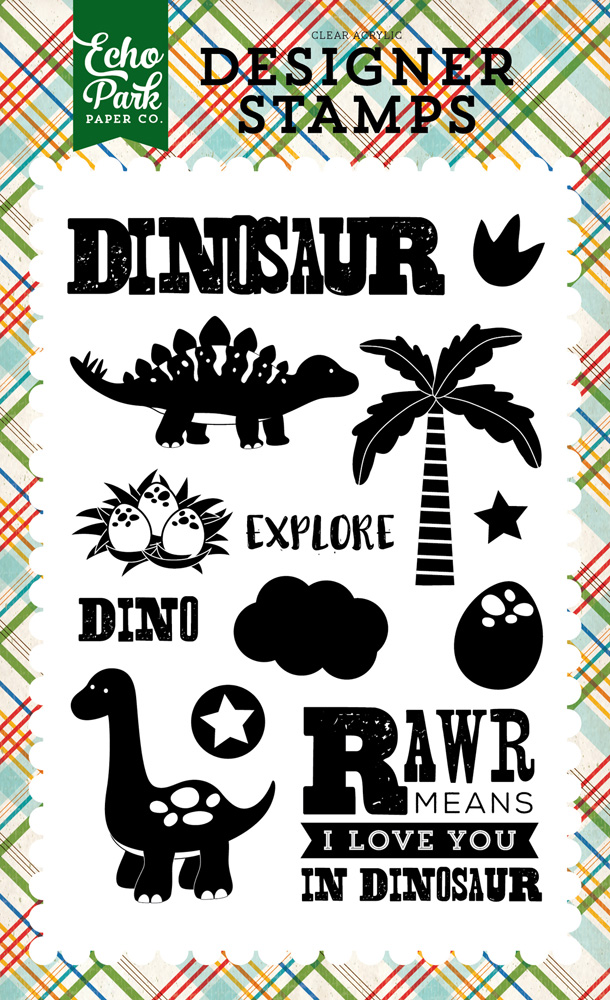 DF102045 Explore Dinosaur Stamp