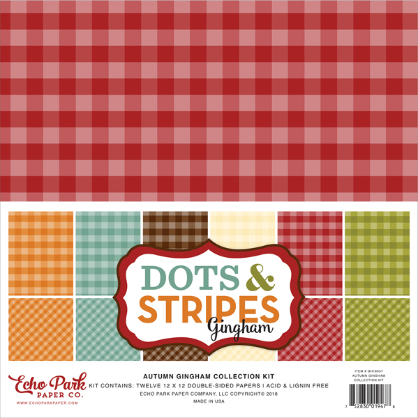 Autumn Gingham Dots & Stripes