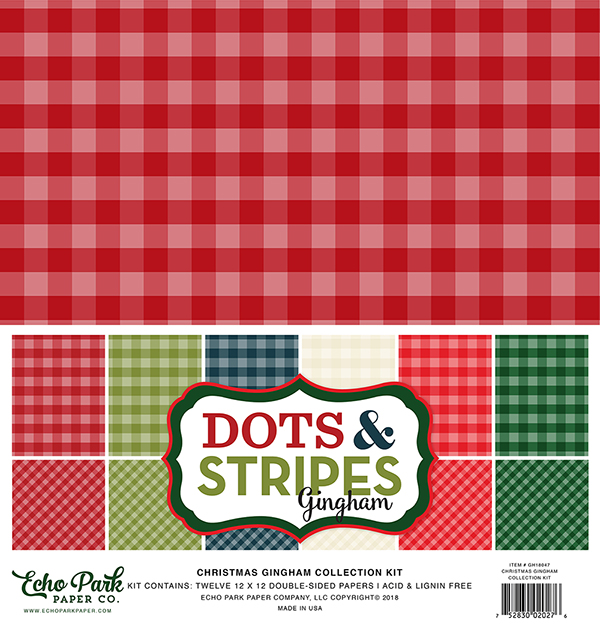 Christmas Gingham Dots & Stripes