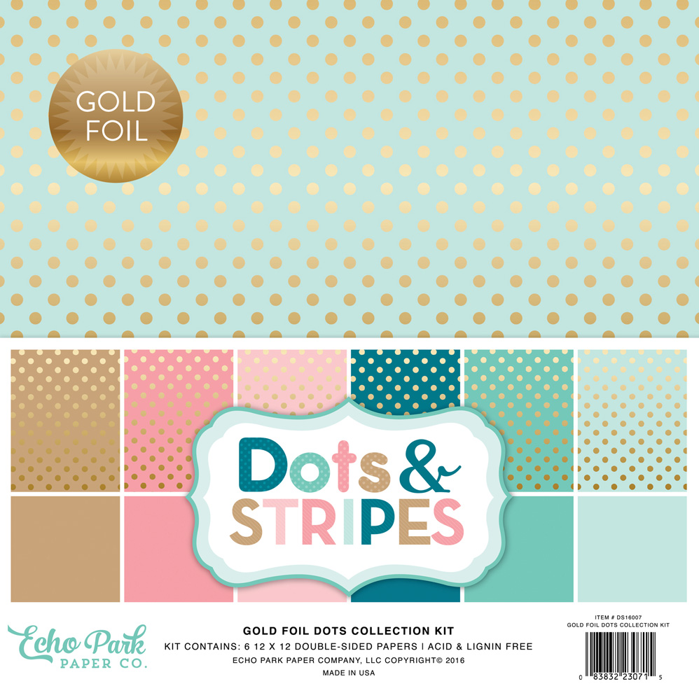 DS16007 Gold Foil Dots Cover