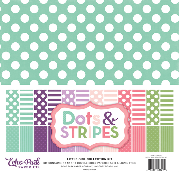 dots stripes girl