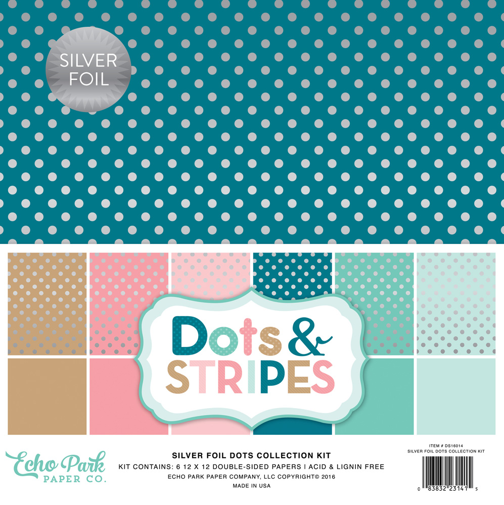 DS16014 Silver Foil Dots Cover