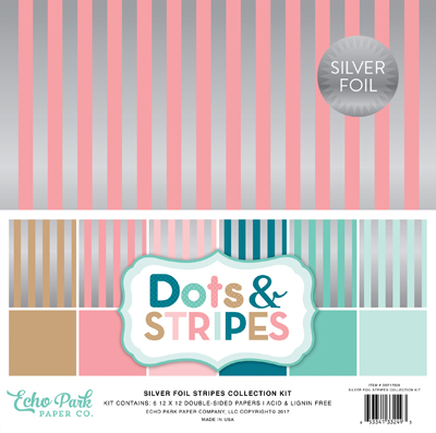 dots stripes silver stripes