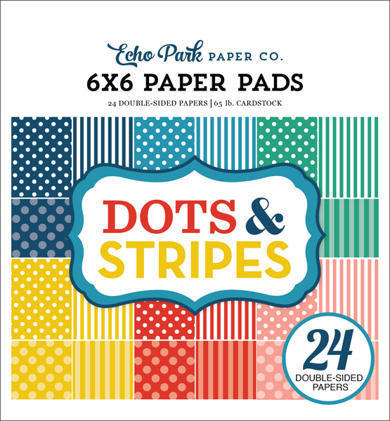 DS18062 Summer Dots & Stripes 6x6 Paper Pad