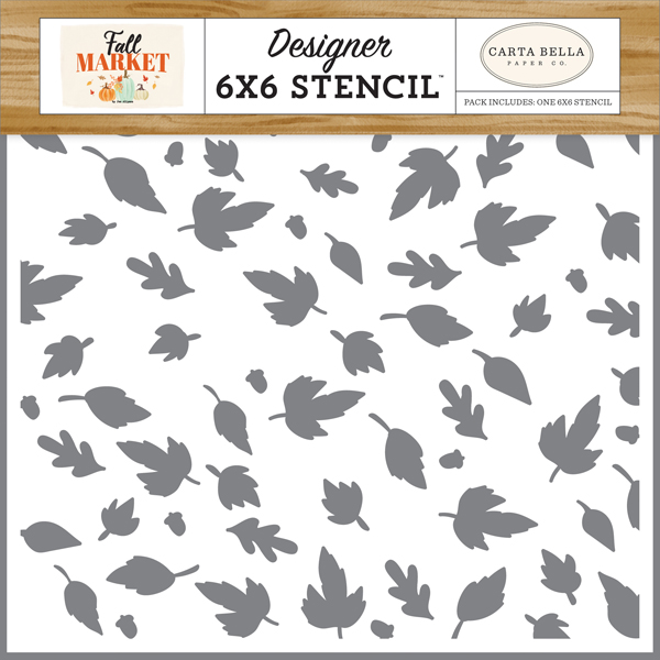 CBFAM105034 Autumn Breeze Leaves Stencil