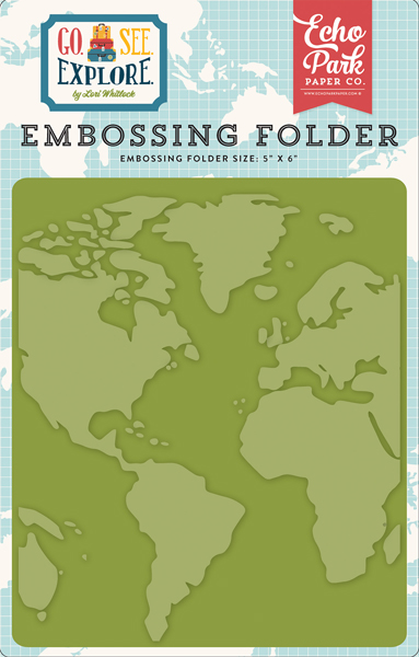 GSE127031 Embossing Folder - Around the World