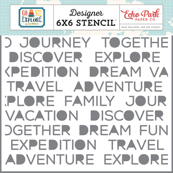 GSE127034 Dream Vacation Stencil