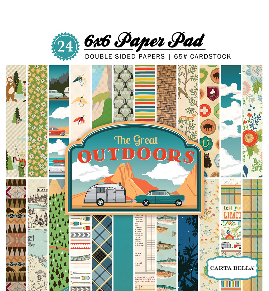 CBGO55015 The Great Outdoors 6x6 Paper Pad