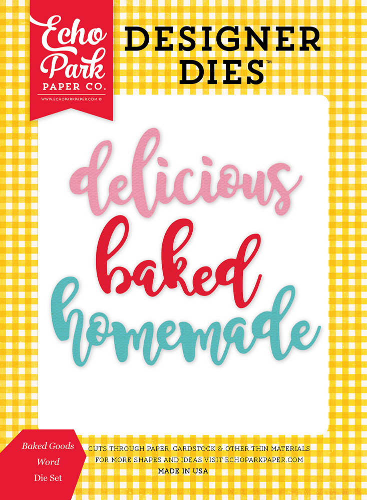 HIH118043 Baked Goods Word <br>Die Set