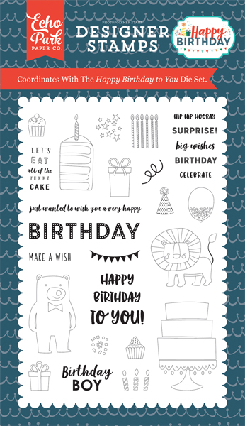 HBB141043 Happy Birthday To You 4x6 Stamp