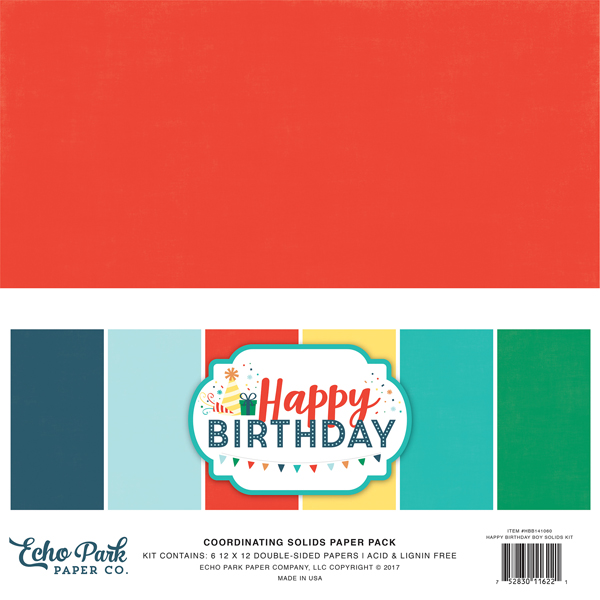 HBB141060 Happy Birthday Boy Solids Kit