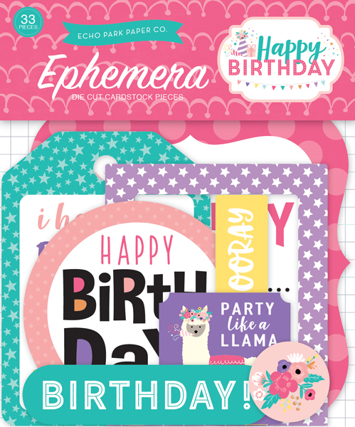 HBG140024 Happy Birthday Girl Ephemera