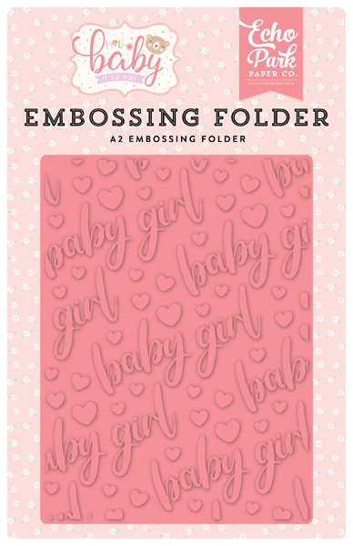 BG171031 Baby Girl Embossing Folder