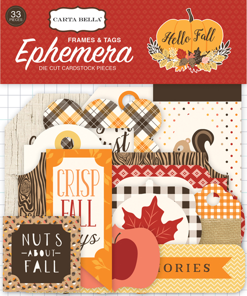 CBHF70021 Hello Fall Frames Tags Ephemera Front